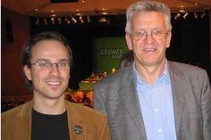 Ich mit Winfried Kretschmann, dem Ministerpräsidenten von Baden-Württemberg (allerdings fünf Jahre bevor er's wurde)