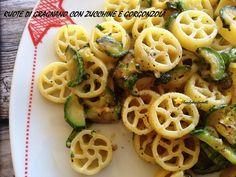 ruote con zucchine e gorgonzola
