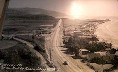 2nd. Sunrise over Malibu Colony. PCH still the 101.