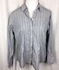 34d3bfec9d548 Apostrophe Women s Shirt Top Button Down Size XL Cotton Blend Long Sleeve   Apostrophe  ButtonDownShirt