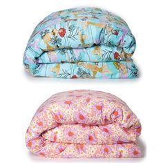 Kip & Co Mermaids Aqua + Woodstock Pink Reversible Kid's Quilt Cover Duvet, Linen Bedding, Pink Quilts, Clothing Hacks, Baby Bedroom, Quilt Cover, Woodstock, Mermaids, Color Splash