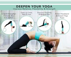 Deepen Your Yoga With Our Dharma Yoga Wheel! From Perfecting Yoga Poses to Stretching Out Your Back - You Will Love It! Yoga Flow, Yoga Meditation, Pilates, Dharma Yoga, Dharma Wheel, Exercise Plans, Yoga Workouts, Photo Shoots, Stretching