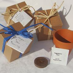Forget-Me-Not Flower Seed Eco-Gift Box Favors (plantmemory.com)