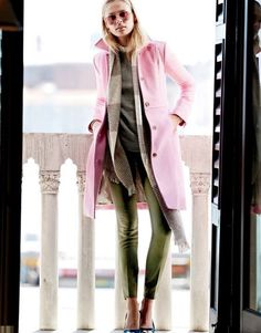 8547f3207031 I want a pink coat!Crew Double-cloth lady day coat with Thinsulate®.