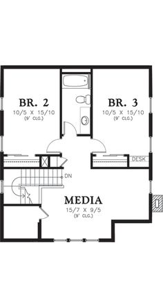 Cottage Style House Plan - 3 Beds 2.50 Baths 1915 Sq/Ft Plan #48-572 Floor Plan - Upper Floor Plan - Houseplans.com
