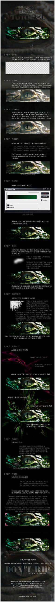 Killer Gator Tag Tutorial by thekellz.deviantart.com on @deviantART