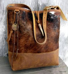 Hair on Cowhide and Rocky Mountain Leather Bucket Bag by Stacy Leigh                                                                                                                                                                                 Mehr