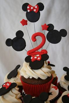 Mickey and Minnie Cupcake Topper by SweetElegance, via Flickr