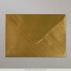 114x162 mm (C6) Enveloppe or métalisée