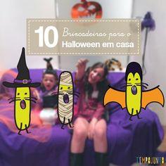 Dia das bruxas chegando e separamos 10 brincadeiras para curtir o Halloween à distância. Assim, as crianças se divertem, mas com segurança.