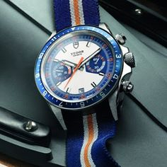 Tudor Heritage Chrono Blue Watch For 2013 great summer watch. Cool Watches, Watches For Men, Tudor Submariner, Most Popular Watches, Preppy Boys, Gold Pocket Watch, Original Vintage, Elegant Watches, Vintage Watches