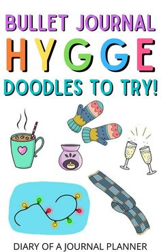 Make a Hygge-themed bullet journal with these 23 brilliant stpe-by-step bullet journal Hygge doodles! #doodles #hygge #bulletjournaldoodles #doodleguide