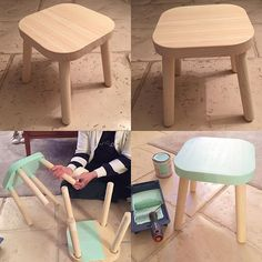 Paint ikea flisat stools into cute animals ikeahack spaces for the littl - Tabouret enfant ikea ...