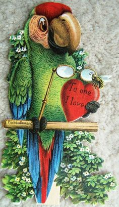 Embossed Parrot Red Heart To One I Love Vintage Valentines Day Card Germany 40s   pic.twitter.com/z4fyKAbRMP http://www.ebay.com/itm/Embossed-Parrot-Red-Heart-One-Love-Vintage-Valentines-Day-Card-Germany-40s-/151026502659?roken=cUgayN&soutkn=K2IEQ0
