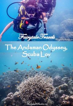 Scuba diving revealed as a world so beautiful and rich that we couldn't believe it even existed. Read our account of our first dive with Scuba Lov in Havelock, Andamans, India #fairytaleoftheday #fairytalestudios #travelblog #travelindia #scuba #scubalov #underwater #travelogue #havelock #indiatravel