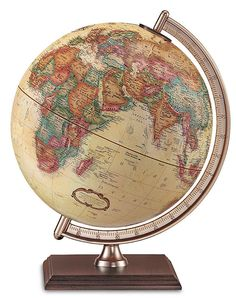 Make an elegant addition to your home or office with the Forester 9-inch Antique Ocean Raised Relief Desktop World Globe by Replogle. At 12 ...