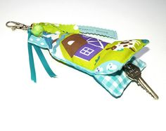 Key Ring Cute House inside by Holland Fabric House, via Flickr