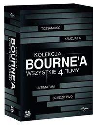 Świat Bourne'a w sensacyjnej serii 4 filmów na DVD.  Tożsamość Bourne'a  Podaje się za Jasona Bournea, ale nie wie, kim naprawdę jest i dlaczego potrafi zabijać z zimną krwią. Wie tylko (…)