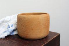 Vintage Swedish Large Wooden Bowl Primitive by LittleRetronome