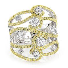 2.11 Karat Diamantring 585er Weißgold