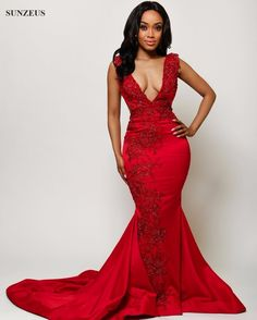 Find More Evening Dresses Information about Long Red Evening Dress	Luxury Sparkle Beaded Formal Dresses Sexy Deep V neck Party Gowns Pageant Dresses For Women SAU453,High Quality dress shirts for men,China dress your own doll Suppliers, Cheap dress train from Suzhou Sanjula Dresses Store on Aliexpress.com