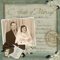 Lovely Heritage wedding scrapbook | Family Heritage