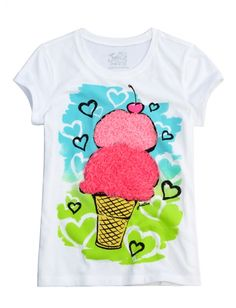 Ice Cream Graphic Tee | Girls Graphic Tees Clothes | Shop Justice