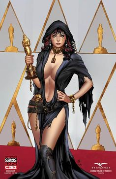 Grimm Tales of Terror: Vol. 3 #4 - Cover E Mike Krome Keres Nice Death Red Carpet Oscars Photo Shoot