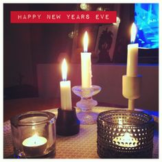 Happy new year! Happy New Years Eve, Candles, Happy New Year, Candy, Candle Sticks, Candle