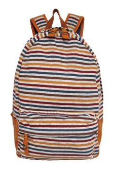 J Carrot Multicolor Striped Fleece Backpack Bag *** Find out more about the great product at the image link.