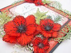 heartfelt Creations Blazing poppy die - Google Search