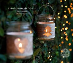 Artesanato natalino  http://www.madamecriativa.com.br/posts-recentes/como-fazer-uma-lanterna-com-pote-de-vidro