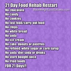 21 Day Challenge No Junk Food