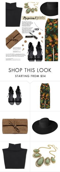 """Hot Tropics"" by sofiasolfieri ❤ liked on Polyvore featuring Warehouse, LULUS, Dorfman Pacific, Michael Kors, Tiffany & Co., Bobbi Brown Cosmetics, tropicalprints and hottropics"