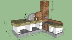 OUTDOOR KITCHEN PLAN AND DETAILS