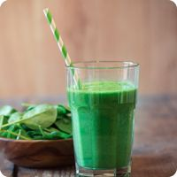Green Energy   8 Tbsp Almased   12 oz unsweetened almond milk   1 cup raw spinach leaves   1/2 pear   1 tsp stevia (optional)   One serving contains: 292 calories, 29 g protein, 32 g carbs, and 6 g fat