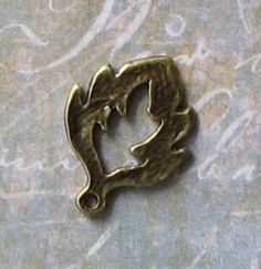 10 pcs Antique Bronze Leaf Charms by SandraSupplies on Etsy, $3.15