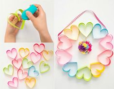 """Based on your perception of """"grunge,"""" you may be puzzled about listening to it explain an each day, wearable make-up typ Easy Mother's Day Crafts, Mothers Day Crafts, Mother Day Gifts, Fathers Day, Fruit And Vegetable Storage, Heart Crown, Rainbow Paper, Mom Day, Paper Hearts"""