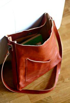 Handmade Leather Messenger Bag | Etsy