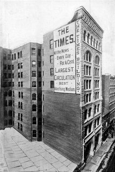 4. The Times Building stills stands at 336 Fourth Avenue in Downtown Pittsburgh. Built in 1892, the photo below was captured sometime during the 1890's. Pittsburgh Neighborhoods, Pittsburgh Skyline, Pittsburgh Pa, Pennsylvania History, Great Buildings And Structures, Modern Buildings, Dubai Skyscraper, Mount Washington, Boston Public Library