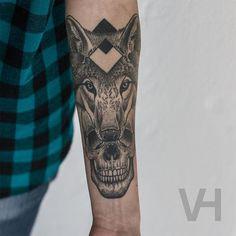 Valentin Hirsch's Symmetrical Skull & Animal Tattoo Collection