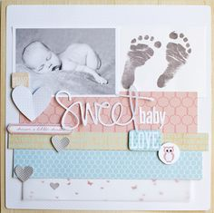 Sweet Baby scrapbook layout by Jamie Harder for @websterspages