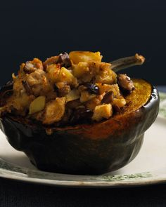 Acorn Squash with Apple Chestnut Stuffing. I must try this next winter