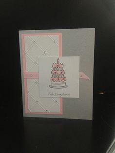 Tarjeta de cumpleaños, felicitación. Gretting card. Happy Birthday. Crafting card.