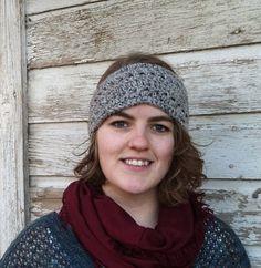 Grey Crocheted Headband  $11.50 USD