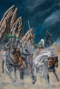 Eomer and Aragorn by KipRasmussen.deviantart.com on @DeviantArt
