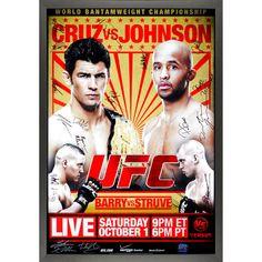 "Fanatics Authentic UFC On Versus 6 Cruz vs. Johnson Framed Autographed 27"" x 39"" 20-Signature Event Poster - $359.99"