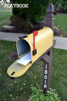 Give Your Mailbox A Facelift With Some Spray Paint And Bright New Address  Numbers.