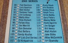 I will be selling my 1966 Topps Baseball Checklist 2nd Series #101 for $ 1.00