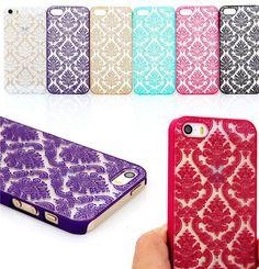 iPhone 6 Plus, 6, 5/5S, 5C - Antique Damask Design Case in Assorted Colors